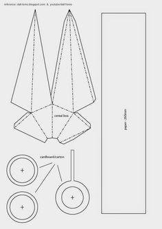 dali-lomo: Kunai DIY (Naruto Style) - Cereal Box (free template)