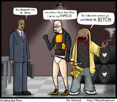 The Oatmeal meets Breaking Bad meets Half Life!  2 out of three of these are among my geeky favourites! (I'm just not a video gamer...)