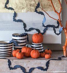 Crepe Paper Crafts: Fall Pumpkins