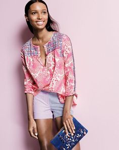 embroidered pink top - Google Search