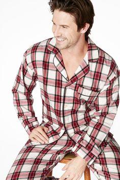 1496b756c4 Bedhead Men s Red Winter Plaid Flannel Classic Pajama Set
