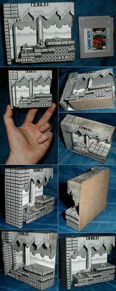 Castlevania Adventure Papercraft. Un hermoso  diorama que no podia escapar a nuestro tablero Video Games Art.
