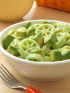 Avocado Mac and Cheese Recipe! at TheFrugalGirls.com #macaroni #avocado #recipes