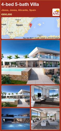 4-bed 5-bath Villa in Jávea, Javea, Alicante, Spain ►€850,000 #PropertyForSaleInSpain