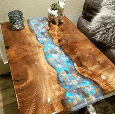 Crystal Clear Bar Table Top Epoxy Resin Coating For Wood Tabletop – epoxy resin DIY Epoxy Table Top, Wood Resin Table, Diy Table Top, Epoxy Resin Table, Clear Epoxy Resin, Diy Epoxy, A Table, Wood Tables, Dining Table