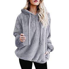 Etecredpow Women Striped Hooded Batwing Sleeve Stylish Active Pocket Sweatshirts