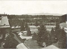 Looking at the quad from the top of Deady Hall 1911.  From the 1913 Oregana (UO yearbook).  www.CampusAttic.com