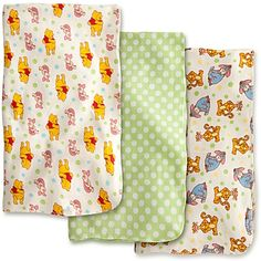 Winnie the Pooh and Pals Receiving Blankets for Baby - 3 Pack