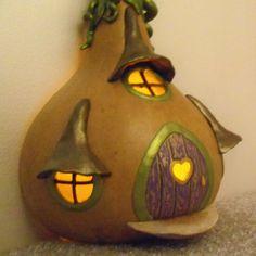 Fairy Tale Fairy House Gourd Spring FREE by EnchantedPumpkinArt