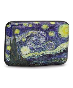 Look at this #zulilyfind! Blue & Yellow Starry Night Armored Wallet by Fig Design Group #zulilyfinds