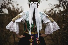 Slovak traditional wedding in fall Traditional Wedding, Traditional Outfits, Vintage Children Photos, Folk Dance, Diy Doll, Culture, Fall, Womens Fashion, How To Wear