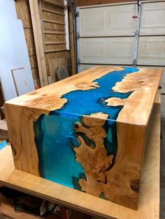 Custom Epoxy Resin River Waterfall Table – Epoxy wood table – New Epoxy Epoxy Wood Table, Epoxy Resin Table, Slab Table, Diy Epoxy, Wood Table Design, Office Table Design, Resin Wall Art, Epoxy Countertop, Resin Furniture