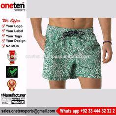 Sublimation Swimwear Short Mens Swim Shorts Swimwear & Beachwear
