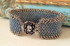 seed bead cuff with clasp - Google Search