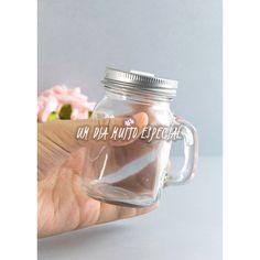 10 Mini Canecas Mason Jar Tampa Furada