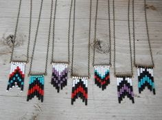 Beaded chevron necklace.