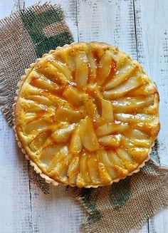 French Pear Tart Bourdaloue with Apricot Rum Glaze