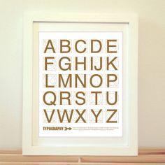 Typography Typoggraphy Print Typography Poster by BentonParkPrints, $10.00