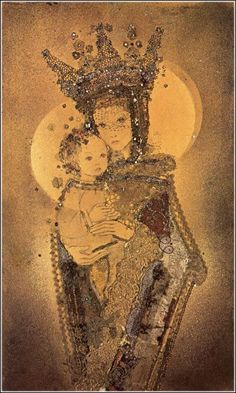 A beautiful illustration of Mary and Jesus