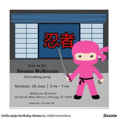 Sold. Little #ninja #birthday #costumeparty #invitations Available in different products too. Check more at www.zazzle.com/celebrationideas