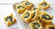 These crisp pastry squares are perfect for al fresco dining.