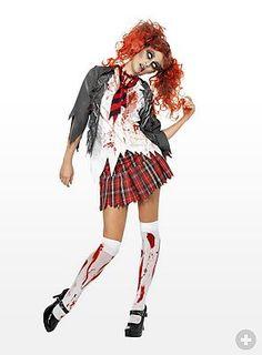 Zombie Schulmädchen Kostüm - maskworld.com