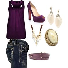 Plum and cream, created by christy-medrano on Polyvore