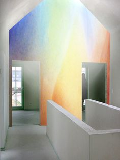 Lazure painting rainbow baby bedroom someday for Dormitorio waldorf