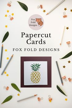 A selection of our previous papercut cards Paper Cutting, Fox, Cards, Design, Maps, Playing Cards, Foxes