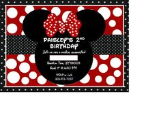 Mickeys Clubhouse Birthday Party Invitation