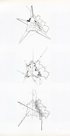 Zaha Hadid Design Concepts And Theory figure-ground study drawing for the vitra firestationzaha