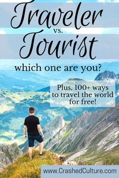 Travel comes in many forms, and there's no shame in the way anybody enjoys to #travel. It's important to be aware of how you travel - as a tourist or a traveler -  and what that means. A posh, 5-star hotel tourist and a world-class backpacking travler enjoy travel in different ways, and you should be aware. via @crashedculture: