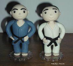 Lutadores de jiu jitsu