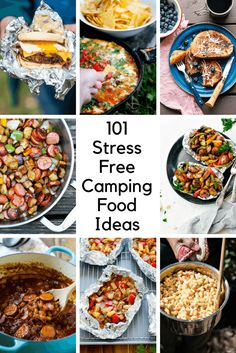 Part of the fun of camping is cooking and eating! Look at these 9 easy camping foods so that families can see how easy it is to eat well, even when you're challenging outdoors. Camping Lunches, Camping Menu, Tent Camping, Camping Hacks, Family Camping, Outdoor Camping, Camping Foods, Camping Stuff, Camping Cooking