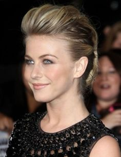 The updo is really gorgeous and allows a clear look at the lovely face of Julianne Hough
