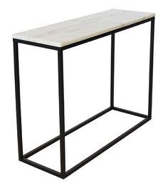 Marble Rectangular Console Table Hazelwood Home Colour: White/Black Design Shop, House Design, Consoles, Granite, Hazelwood Home, Classic House, Wall Shelves, Decoration, House Colors
