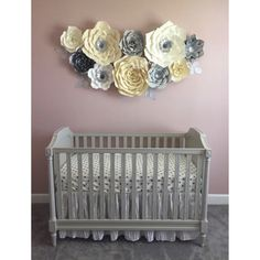 "237 Likes, 6 Comments - Paper FlowersFlores De Papel (@shopoliposa) on Instagram: ""I am in LOVE with this color combo  #nursery #nurserydecor #nurserywallart #nurseryideas…"""