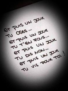 Life Quotes : Et puis un jour, vous reprenez votre pouvoir ! - The Love Quotes French Words, French Quotes, Words Quotes, Life Quotes, Sayings, Quotes Quotes, Positive Affirmations, Positive Quotes, Some Words