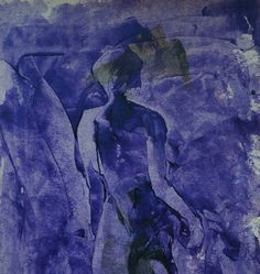Female. Monochrome painting in violet color. Quick by ankaGilding
