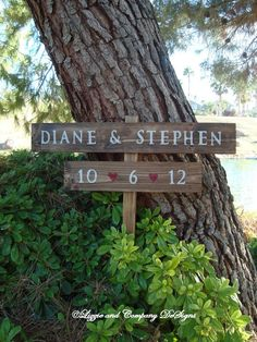 WeDDiNg SiGnS - ReCepTioN SiGn - BaCkYaRd WeDDiNg SiGn - Names & Date Red Hearts - Custom Wedding SIGNS - 3 ft Stake - RuSTiC and STaiNeD on Etsy, $44.95