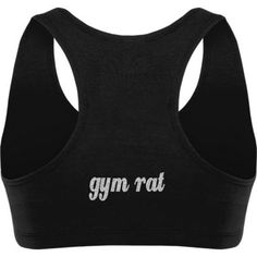 Gym Rat Sports Bra.  I love that it's plain in the front with gym rat written across the back. #gymnastics