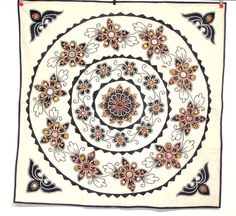 Vintage Indian Textile  Applique and Hand by oldsilkroute on Etsy, $30.00
