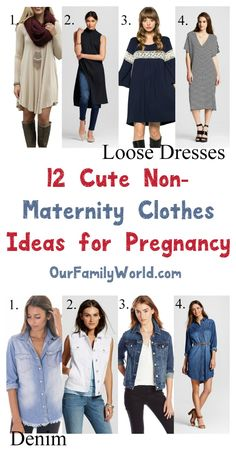 Trying to save money on clothes to cover your ever-growing baby bump? Here's a tip: there are plenty of non-maternity clothes for pregnancy that you can wear! Check out 12 ideas we love!