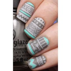65 Winter Nail Art Ideas ❤ liked on Polyvore featuring beauty products and nail care
