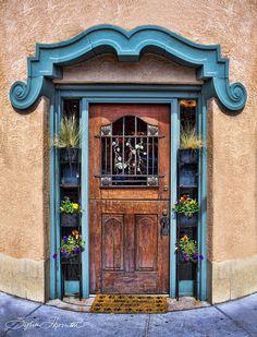 Santa Fe Blue Door Photograph  - Santa Fe Blue Door Fine Art Print
