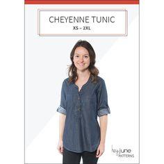 The Cheyenne Tunic pdf pattern by Hey June Handmade