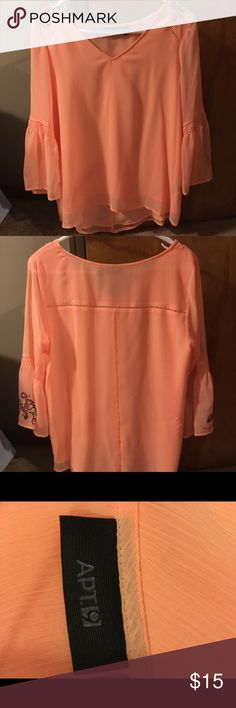 Apt 9 Bright Pink Blouse Bright Pink Blouse, size Medium, perfect for casual work wear and special occasions. Only worn a few times. Apt. 9 Tops Blouses