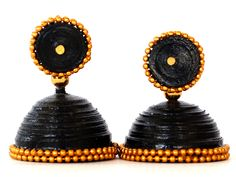 Buy Elegant Black Paper Quilled Jhumka. Rs.210/-