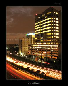 PAKISTAN, Awesome beauty wonderful view and night beauty of Shahr e Faisal, Karachi city, Sindh, Pakistan Commercial Complex, Karachi Pakistan, Location Map, Times Square, Tower, Night, City, World, Pictures