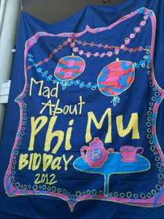 alice in wonderland themed bid day!
